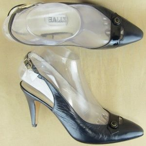 "BALLY US 7 B Women Stiletto Heels 3.5"" Slingback"